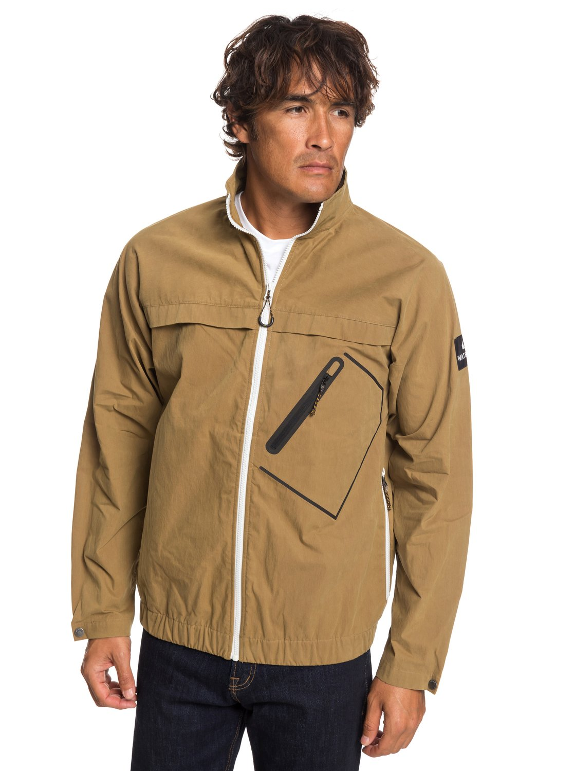 0 Waterman Good Weather - Chaqueta Corta-Viento Encerada para Hombre Marron  EQMJK03021 Quiksilver b89b197d7121