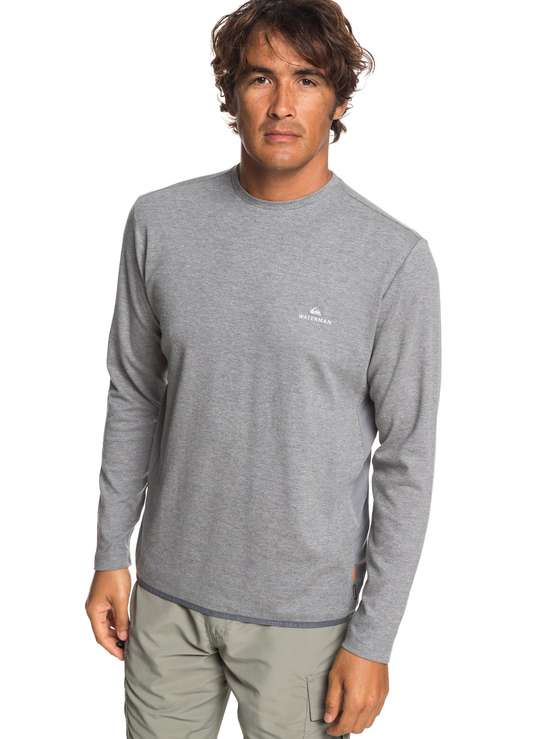c5c822a7dc90 0 Waterman Sea Hound - Long Sleeve Top for Men Grey EQMKT03058 Quiksilver