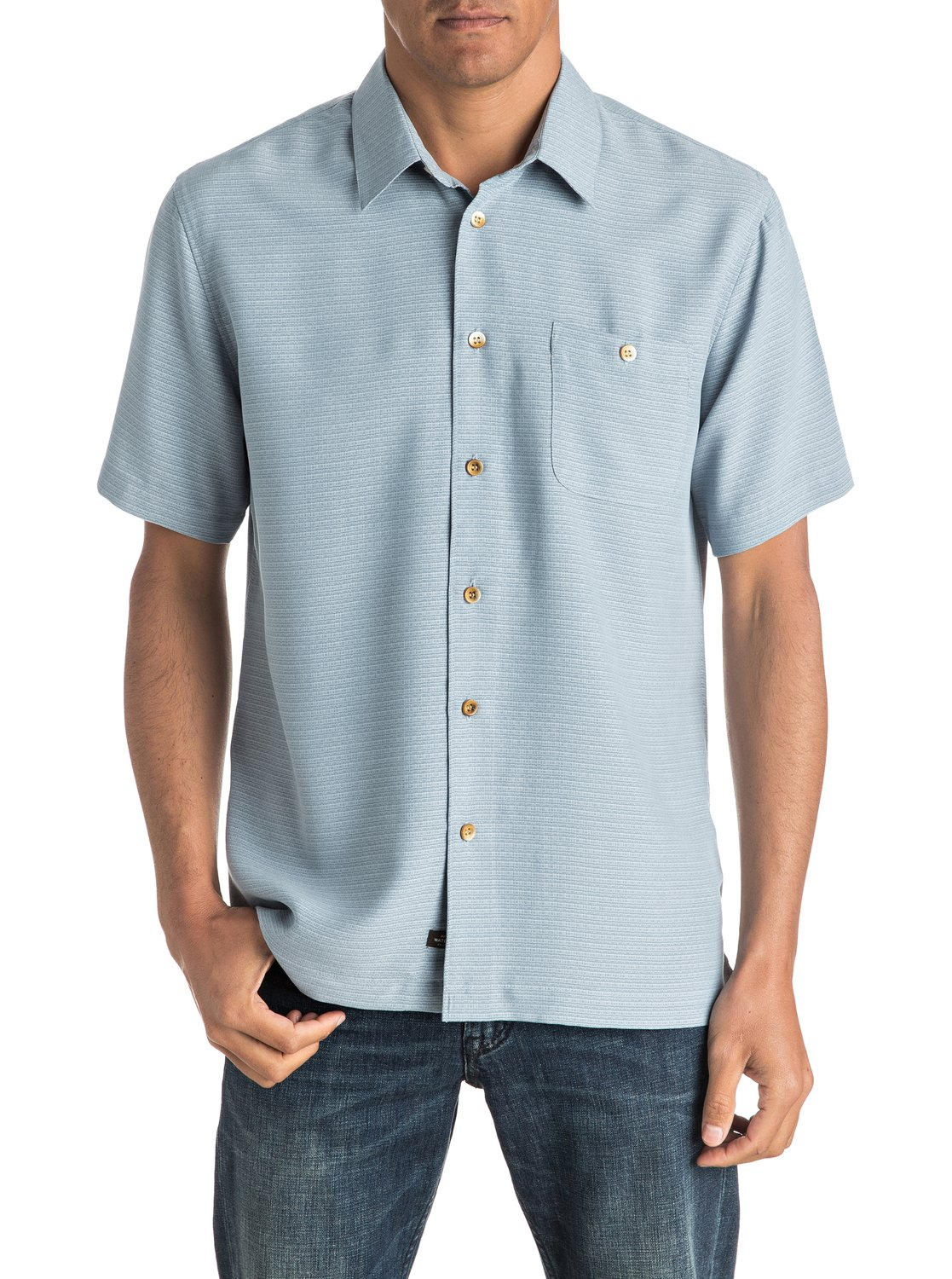 d6e4c7ffdb0 0 Waterman Marlin - Short Sleeve Shirt Blue EQMWT03008 Quiksilver