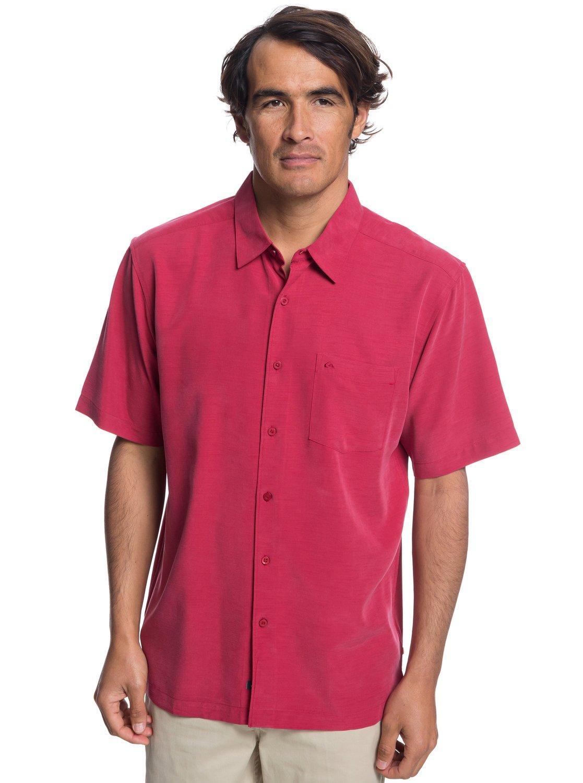 0 Waterman Clear Days Short Sleeve Shirt Red EQMWT03151 Quiksilver 8558e068b9