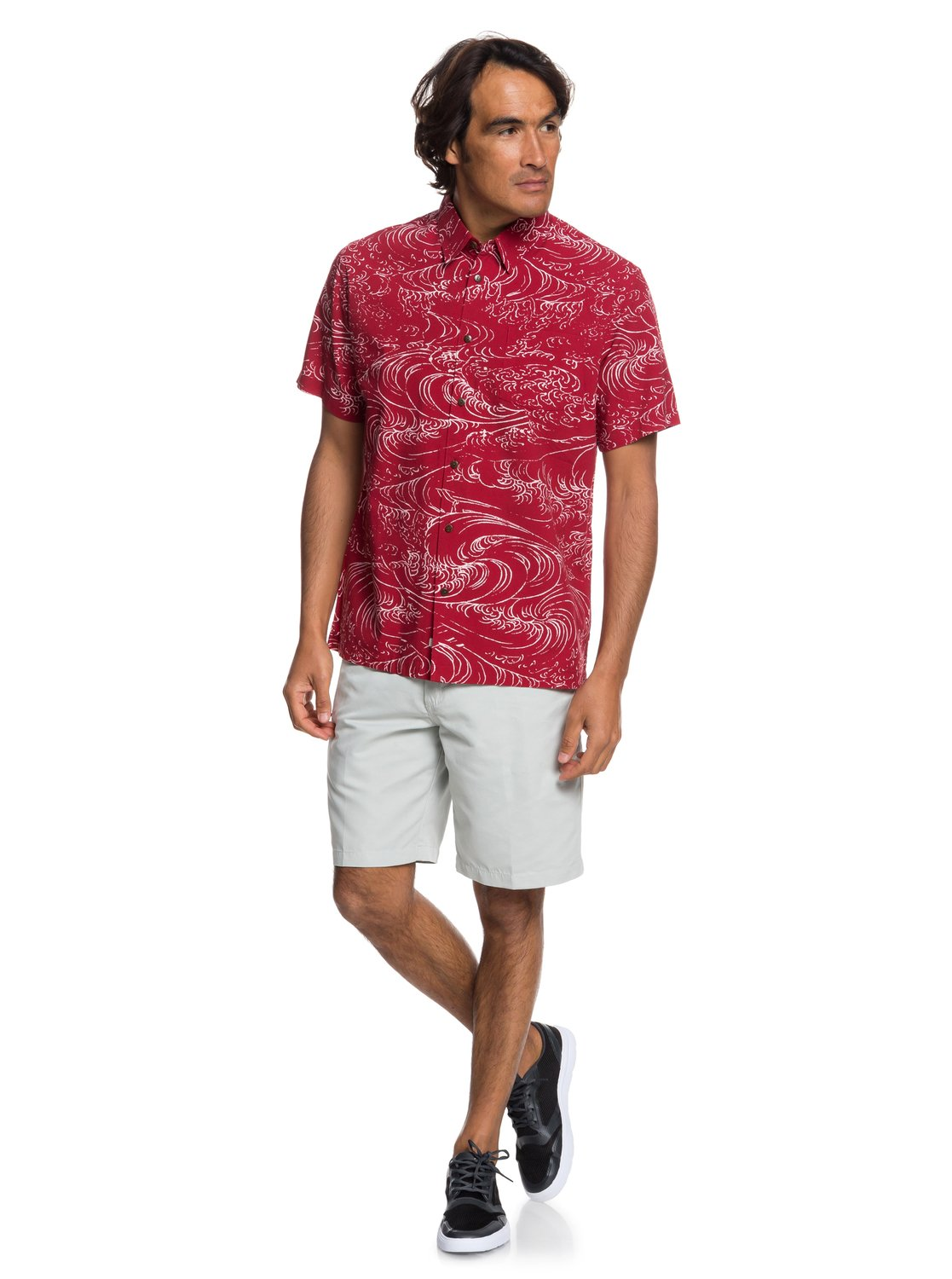 5051ac1f932 1 Waterman Wind And Waves Short Sleeve Shirt Red EQMWT03192 Quiksilver