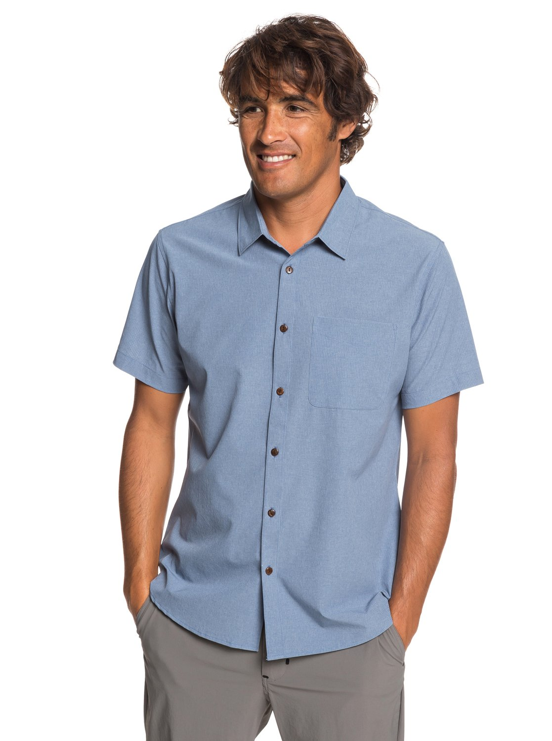 187946466c8 0 Waterman Tech Tides - Short Sleeve UPF 30 Shirt for Men Blue EQMWT03225  Quiksilver
