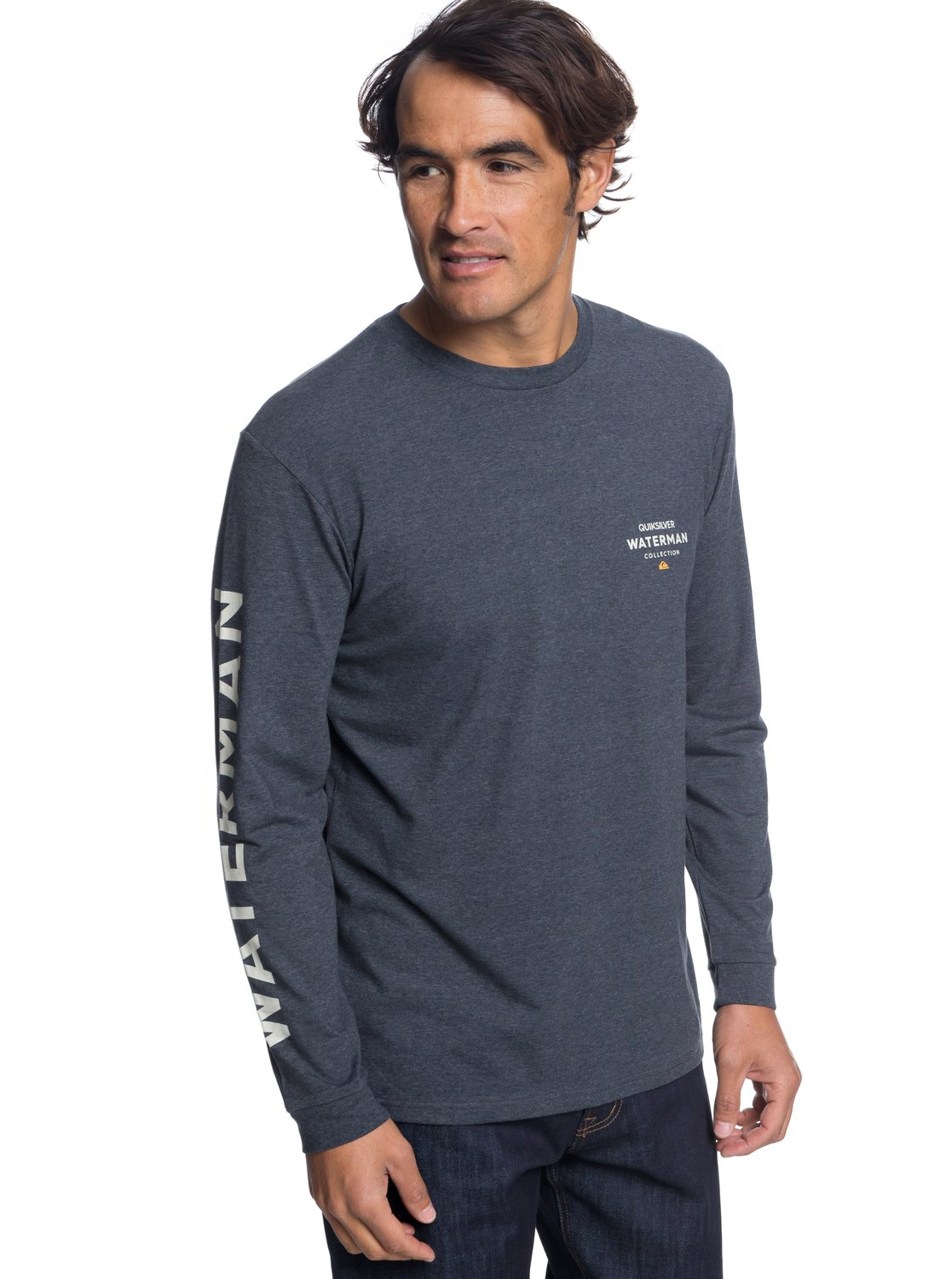 130a90ac1b6 0 Waterman Righty - Long Sleeve T-Shirt for Men Black EQMZT03101 Quiksilver