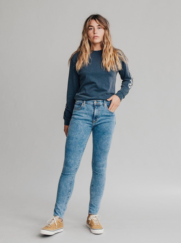 0 Quiksilver Womens - Jean skinny taille haute pour Femme Bleu EQWDP03000  Quiksilver d56fbc8a9c2