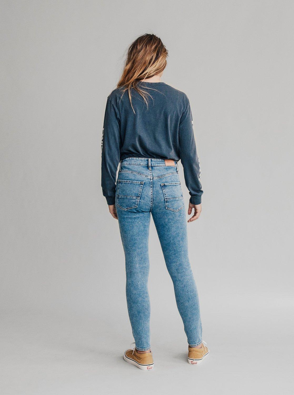 1 Quiksilver Womens - Jean skinny taille haute pour Femme Bleu EQWDP03000  Quiksilver f50802ccb81