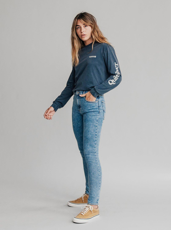 5 Quiksilver Womens - Jean skinny taille haute pour Femme Bleu EQWDP03000  Quiksilver 11615106b3a