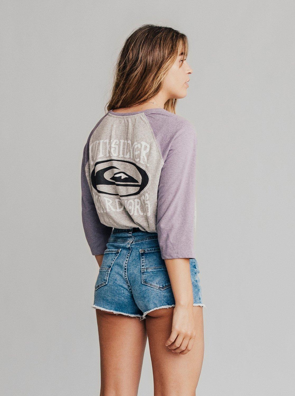 3 Quiksilver Womens - Short taille haute en denim pour Femme Bleu  EQWDS03000 Quiksilver 6aa1fc7e5dd