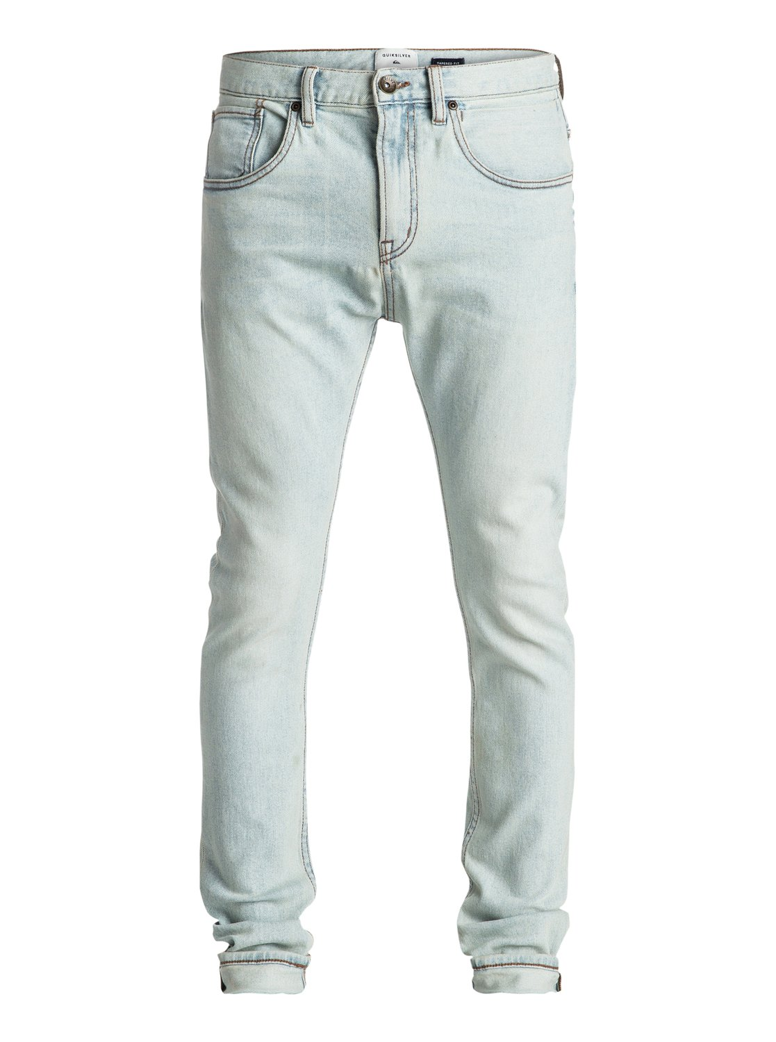 quiksilver low bridge bleached skinny jeans skinny jeans m nner blau ebay. Black Bedroom Furniture Sets. Home Design Ideas