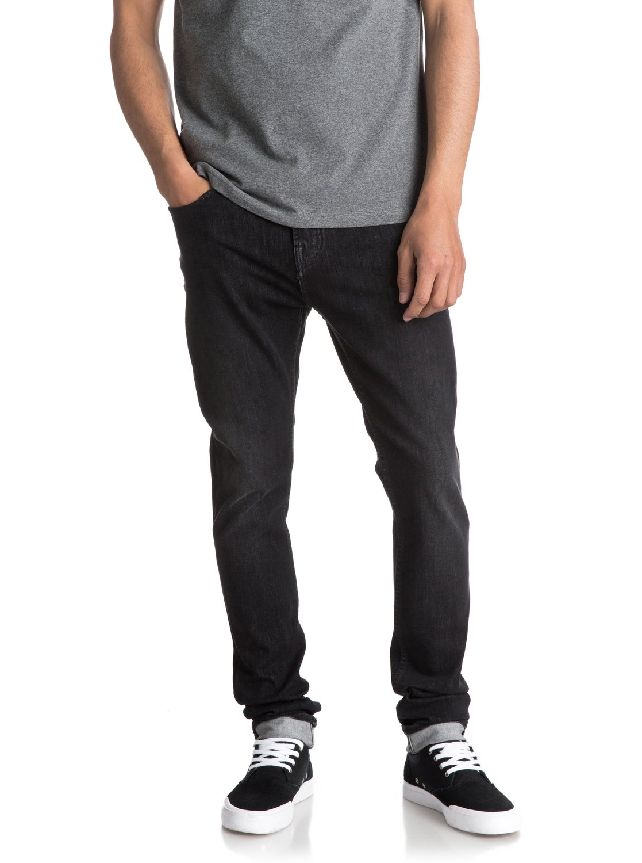 0fea9d1e6a6e91 1 Low Bridge Slate - Skinny Fit Jeans for Men Black EQYDP03340 Quiksilver