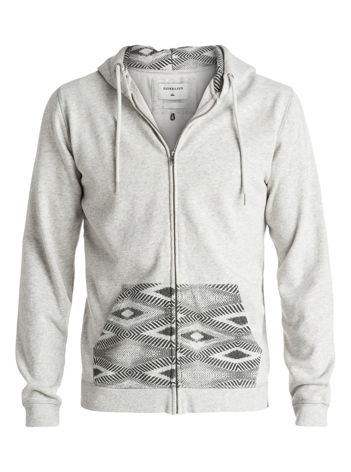 Decided Zippé Quiksilver Eqyft03475 4 Sweat Gris À Capuche Fate dwqwpgxX8