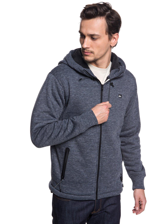 558d7a4f9 Kurow Sherpa - Bonded Zip-Up Hoodie for Men