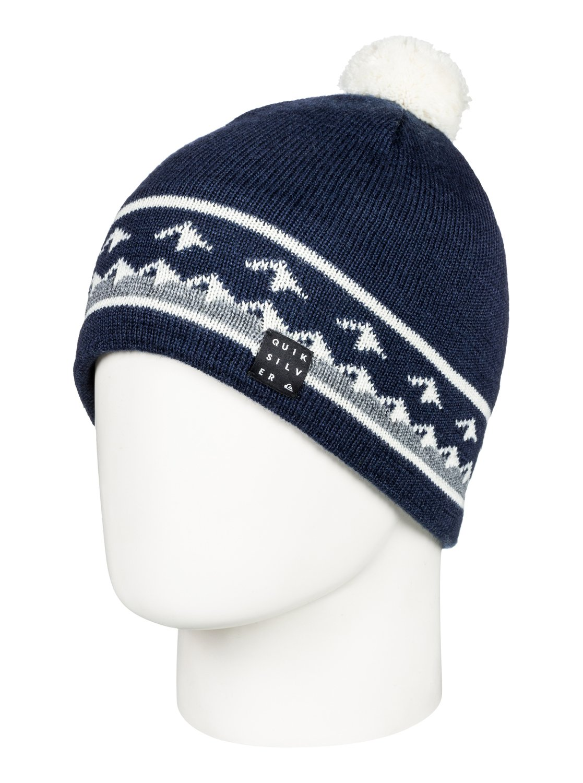 0 Barrow - Bonnet pour Homme Bleu EQYHA03153 Quiksilver 70a0a7a58b9
