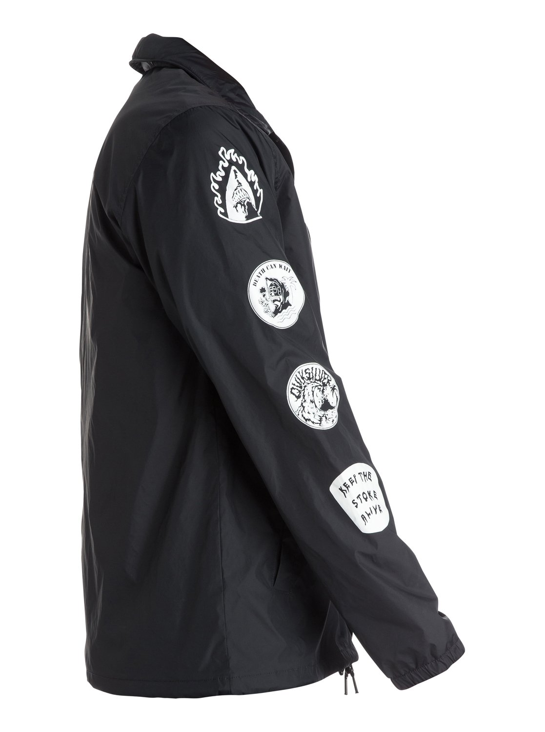 Death By Stereo Coach Jacket Eqyjk03118 Quiksilver