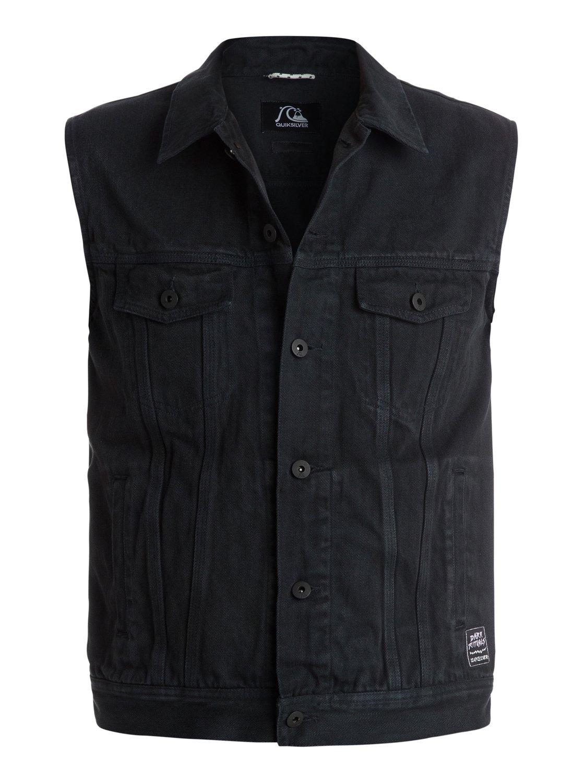 hooligans and whisky veste en jean sans manches eqyjk03135 quiksilver