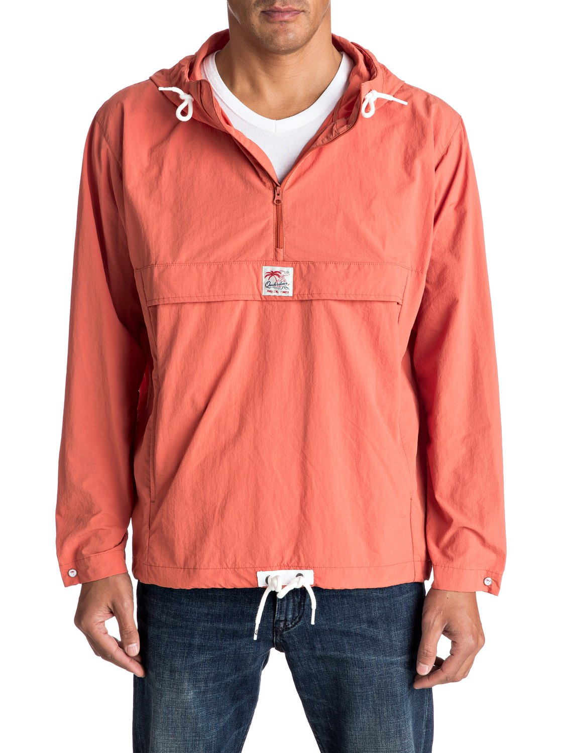 Quiksilver-Bloom-Full-Windbreaker-Pullover-Pull-coupe-vent-Homme