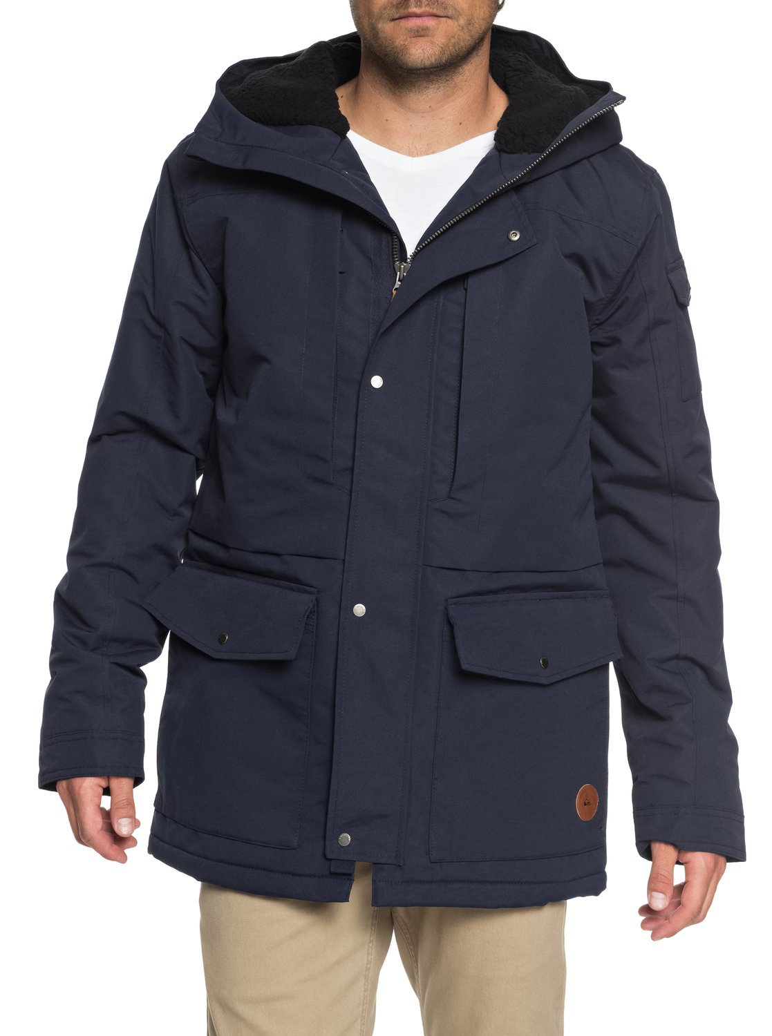 1 Canyon - Waterproof Hooded Jacket for Men Blue EQYJK03334 Quiksilver 36d7b3a15f3
