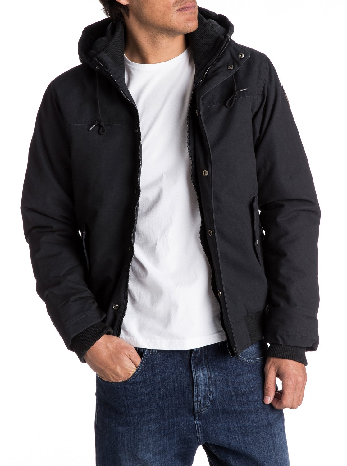 9603e28832a4 Quiksilver™ Everyday Brooks - Water-Repellent Hooded Bomber Jacket - Men 3  3 of 5 ...