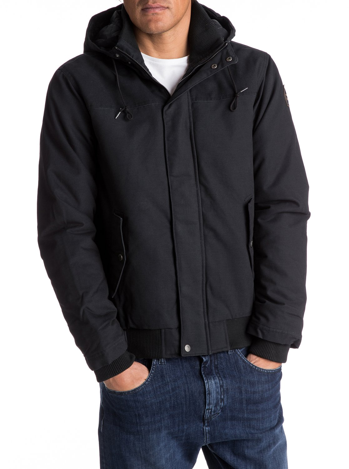 Quiksilver™ Everyday Brooks - Water-Repellent Hooded Bomber Jacket ...