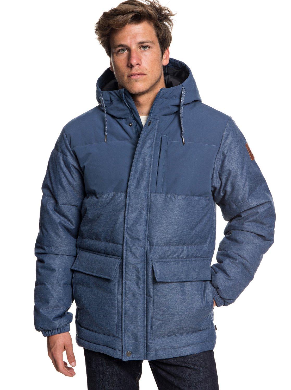 Chaqueta Hombre con Fin impermeable Full capucha para acolchada g05wHz