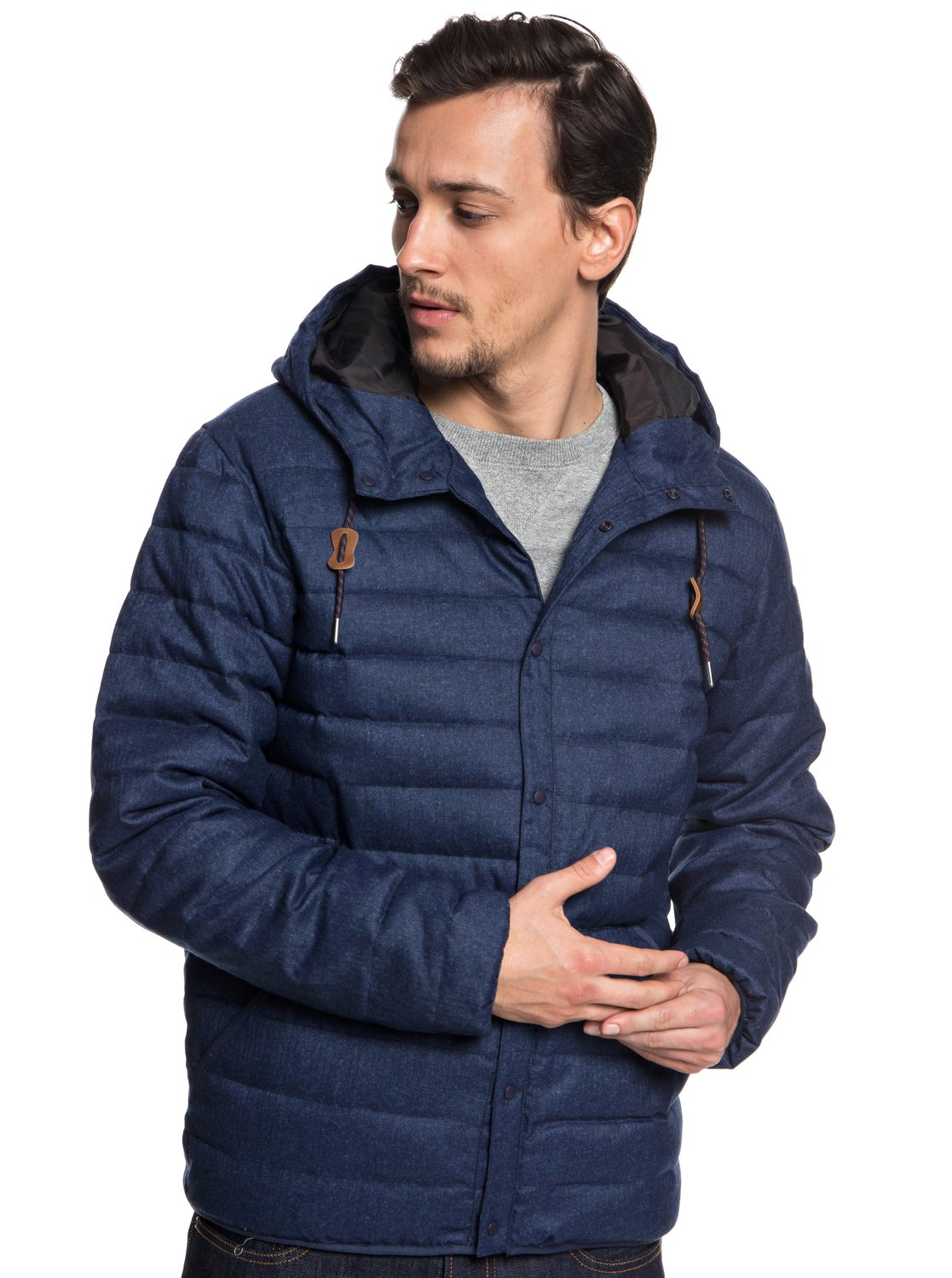 0 Scaly - Puffer Jacket for Men Blue EQYJK03421 Quiksilver d2afc89e1765