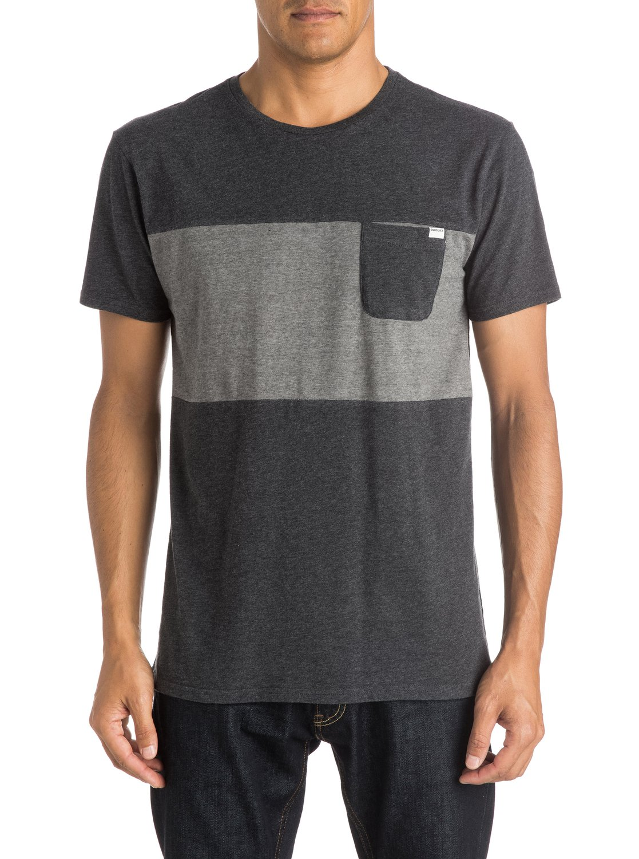 Shore Break Pocket T Shirt Eqykt03363 Quiksilver Kaos Polos Stripe Big Black 0