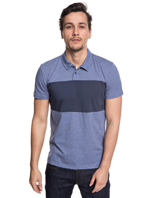 corta Camisa Azul polo Hombre EQYKT03770 para técnica Quiksilver Kuju manga de 0 BqFA4RB