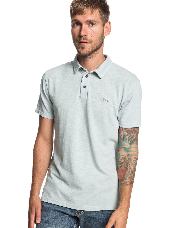 e5d1c8927d 0 Everyday Sun Cruise Short Sleeve Polo Shirt Blue EQYKT03784 Quiksilver