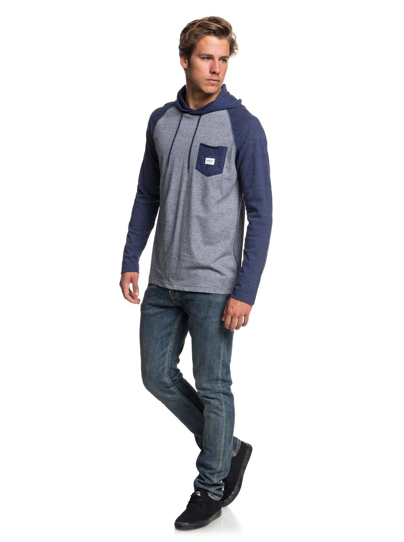 Michi Long Hooded Sleeve Eqykt03799 Quiksilver Top dAx0wwZn