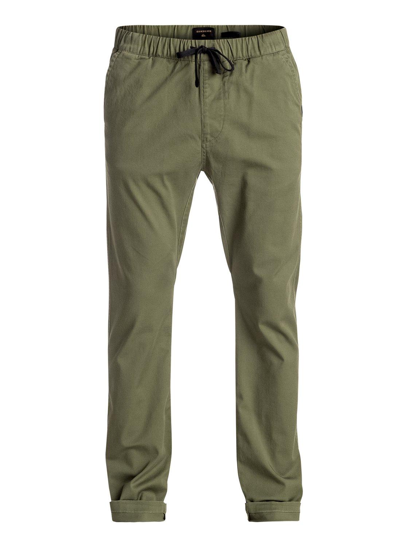 445ca5369cc2 4 Прямые брюки Fun Days Зеленый EQYNP03110 Quiksilver