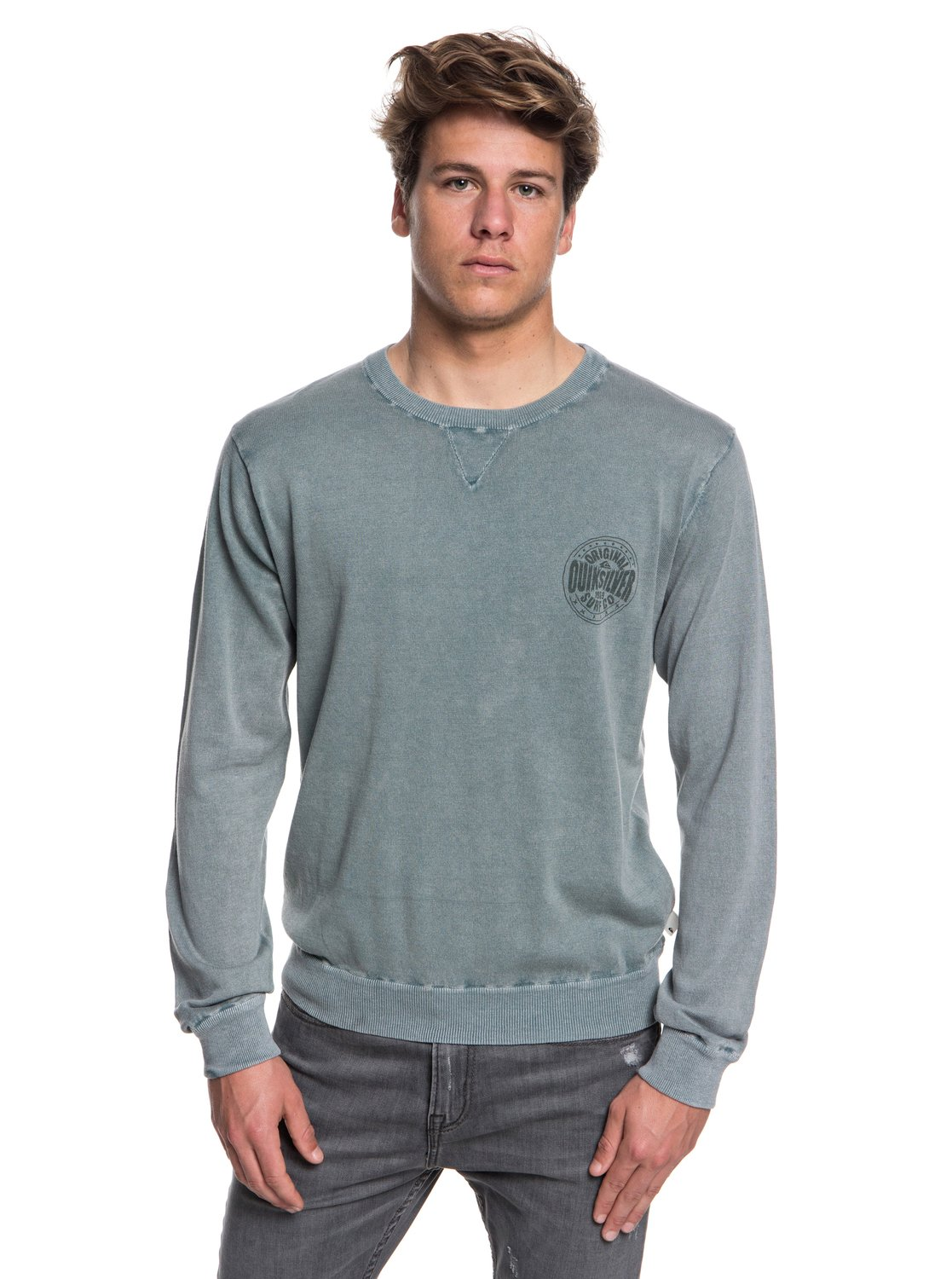Pull Reef Eqysw03221 Quiksilver Bleu Pour Rond Col 0 Homme Miyako w5TqE