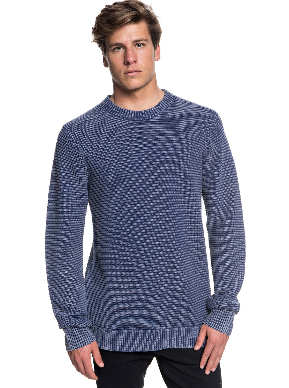 Inland Seto - Pull col rond pour Homme - Bleu - QuiksilverQuiksilver
