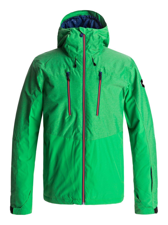 0 Сноубордическая куртка Mission Plus Зеленый EQYTJ03134 Quiksilver 6f779f74541
