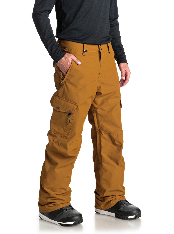 Hombre Quiksilver Marrón Nieve Porter Pantalones Para 2 para EQYTP03087 7aqX8HKw