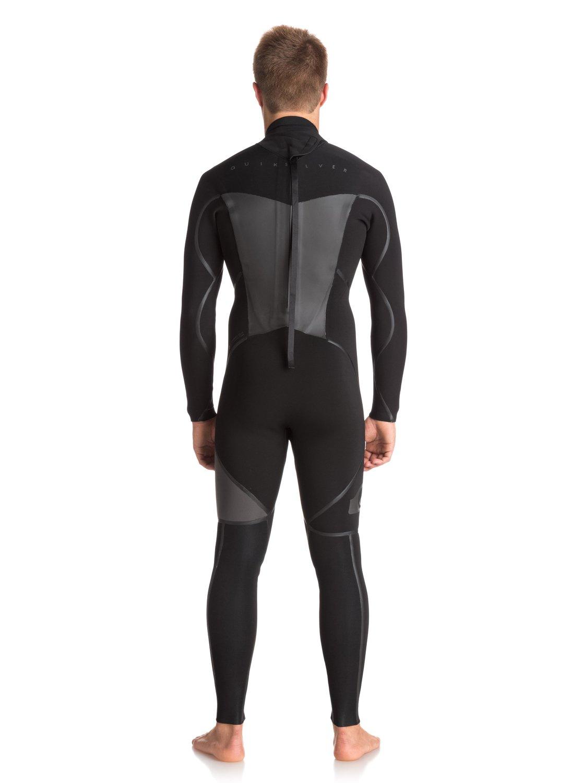 1 4 3mm Syncro Plus Back Zip Wetsuit Black EQYW103043 Quiksilver 0d9d7d69a