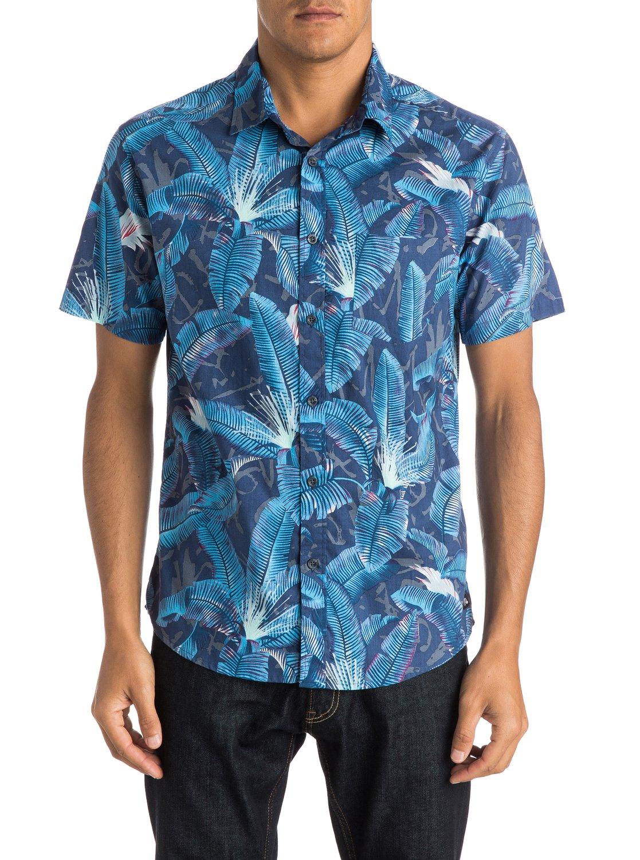 6d613acbb78 0 Riot Shirt - Short Sleeve Shirt Blue EQYWT03287 Quiksilver
