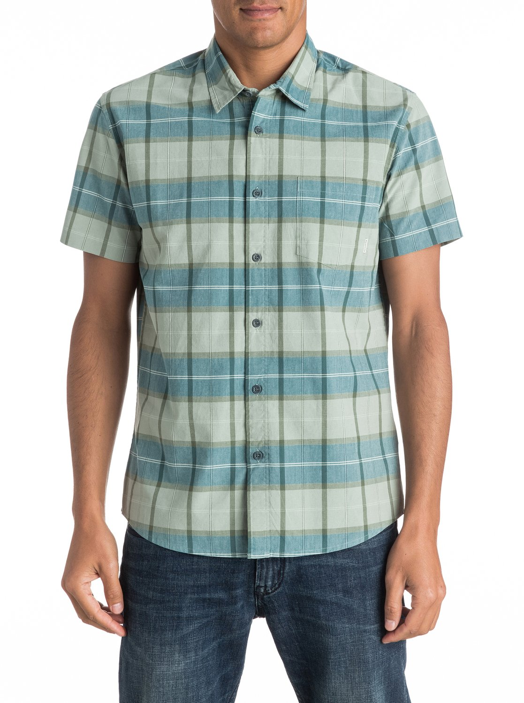 Quiksilver-Everyday-Check-Short-Sleeve-Shirt-Camisa-De-Manga-Corta-Hombre