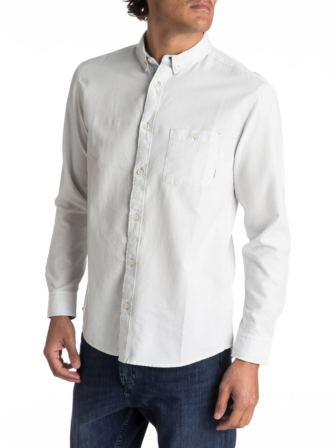 26d26c6aaa4d 0 Waterfalls - Long Sleeve Shirt for Men Grey EQYWT03556 Quiksilver