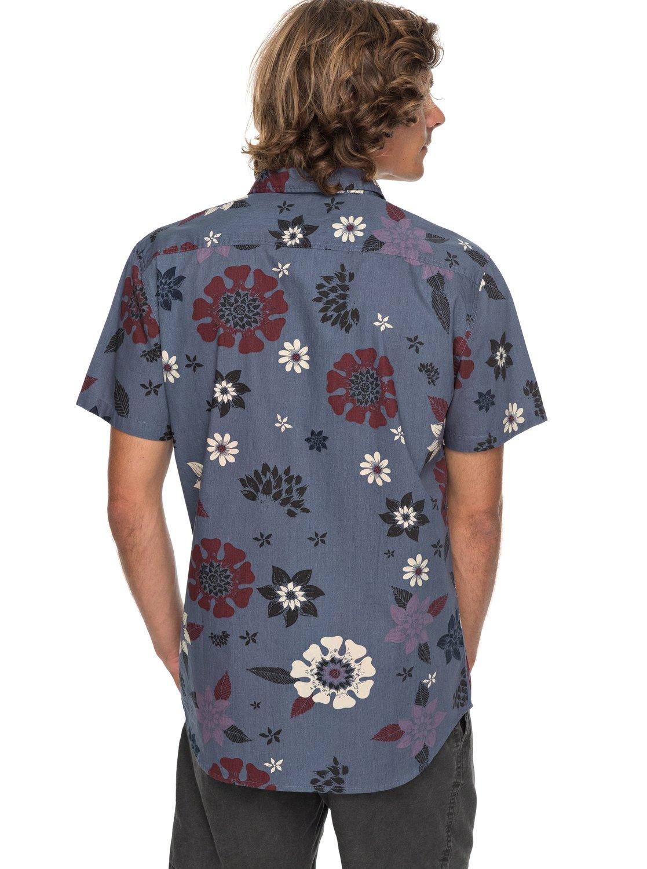 59edd9f131a0 2 Sunset Floral - Short Sleeve Shirt for Men Blue EQYWT03634 Quiksilver