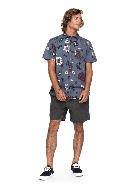 3d731276ac15 1 Sunset Floral - Short Sleeve Shirt for Men Blue EQYWT03634 Quiksilver