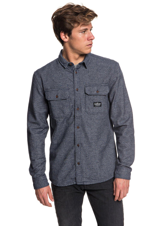 0 Riku Rock - Long Sleeve Shirt for Men Blue EQYWT03696 Quiksilver cf71d68d019d