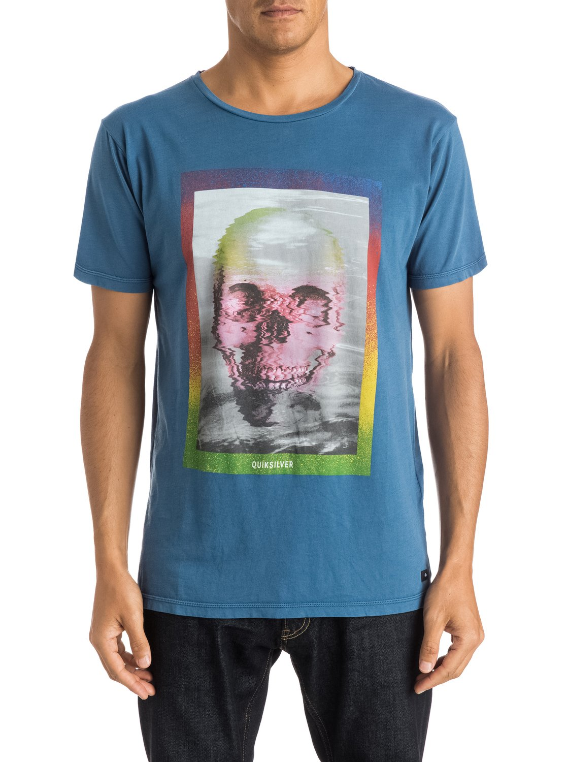 7a39df101 0 Skully Acid - T-Shirt Blue EQYZT03658 Quiksilver