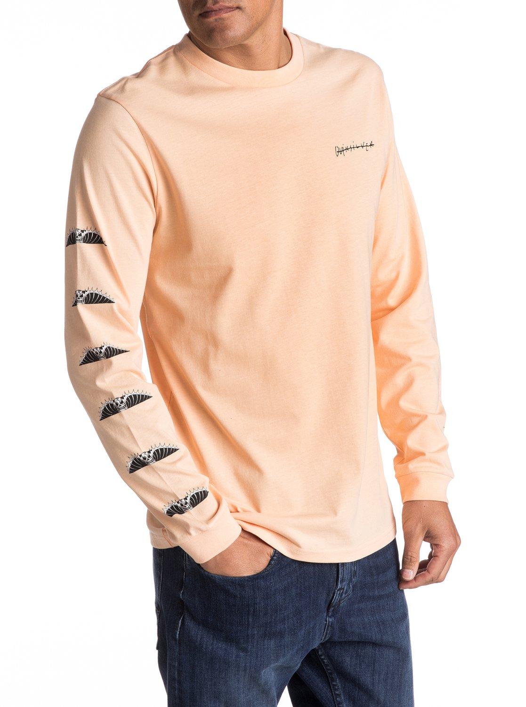 Larga Motion Hombre para de Manga Camiseta 0 Quiksilver Malibu EQYZT04470 Naranja fp7xqwXgF
