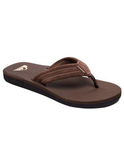 d83883cc946e 0 Carver - Leather Sandals Brown AQYL100030 Quiksilver