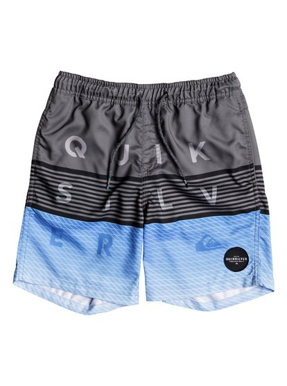 """Word Block 15"""" - Swim Shorts for Boys 8-16  EQBJV03136"""