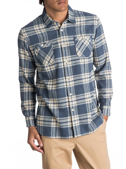 Waterman Moon Tides Flannel - Long Sleeve Shirt for Men  EQMWT03075