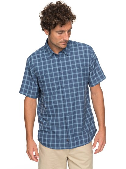 Waterman Wake Plaid 2 - Technical Short Sleeve Shirt for Men  EQMWT03123