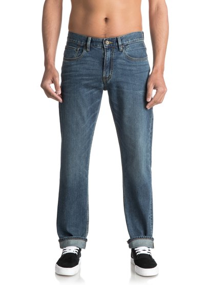 Sequel Medium Blue - Regular Fit Jeans for Men  EQYDP03344