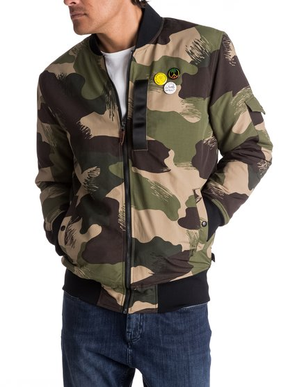 Trestles Army - Long-Fit Bomber for Men  EQYJK03359