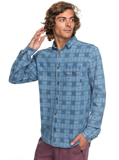 Full Rail Indigo - Long Sleeve Shirt  EQYWT03651