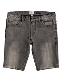 Distorsion Stone Grey - Denim Shorts for Boys 8-16  EQBDS03056